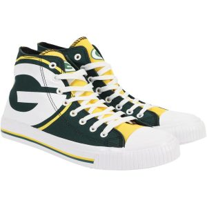 Green Bay Packers Big Logo High Top Sneakers