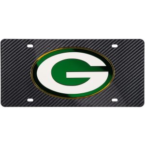 Green Bay Packers Carbon Fiber License Plate