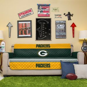 Green Bay Packers Green Sofa Protector