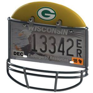 Green Bay Packers Helmet License Plate Frame