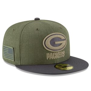 Green Bay Packers New Era 2018 Salute to Service Sideline 59FIFTY Fitted Hat