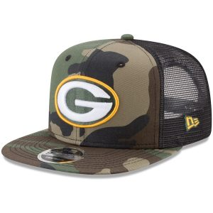 Green Bay Packers New Era Trucker 9FIFTY Snapback Adjustable Hat