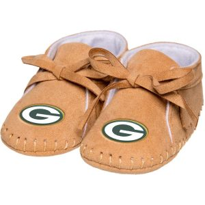 Green Bay Packers Newborn & Infant Tan Fringe Baby Booties