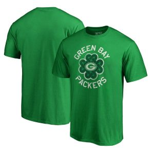 Men's Green Bay Packers Green Big & Tall St. Patrick's Day Luck Tradition T-Shirt