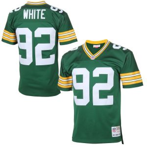 Mitchell & Ness Reggie White Green Bay Packers Green Retired Player Vintage Replica Jersey