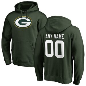 Green Bay Packers Green Any Name & Number Logo Personalized Pullover Hoodie