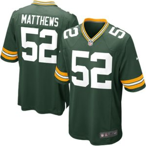 Nike Clay Matthews Green Bay Packers Green Game Jersey