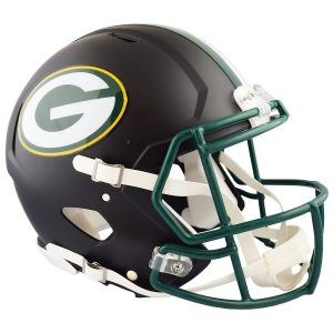 Riddell Green Bay Packers Black Matte Alternate Speed Full-Size Pro-Line Football Helmet