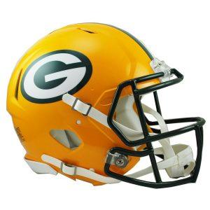 Riddell Green Bay Packers Revolution Speed Full-Size Authentic Football Helmet
