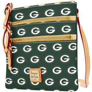 Women's Green Bay Packers Dooney & Bourke Green Triple Zip Crossbody Purse