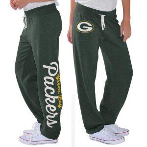 Women's Green Bay Packers G-III 4Her by Carl Banks Green Scrimmage Fleece Pants