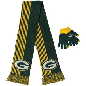 Women's Green Bay Packers Green Gloves & Scarf Set