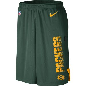 Green Bay Packers Nike Sideline Player Knit Performance Shorts – Green