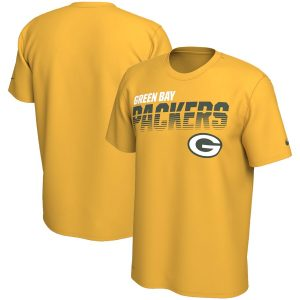 Men's Green Bay Packers Nike Gold Sideline Line of Scrimmage Legend Performance T-Shirt