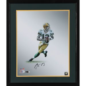 Aaron Rodgers Green Bay Packers Framed 16″ x 20″ Autographed Platinum Photograph