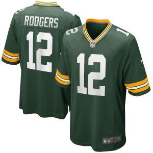 Aaron Rodgers Green Bay Packers Nike Game Player Jersey