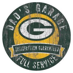 Green Bay Packers 12″ x 12″ Dad's Garage Sign