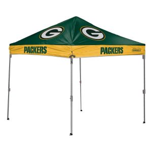 Green Bay Packers Coleman 10′ x 10′ 2-Tone Straight Leg Canopy Tent