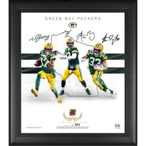 Green Bay Packers Framed Franchise Foundations Collage with a Piece of Game Used Football – Limited Edition of 920