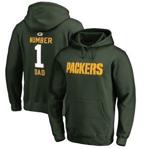 Green Bay Packers Big & Tall Number 1 Dad Pullover Hoodie