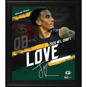 Jordan Love Green Bay Packers Framed 2020 NFL Draft Day Collage – Facsimile Signature